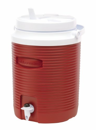 Rubbermaid Victory Jug Water Cooler, Modern Red, 2-gallon (FG153004MODRD) (Cooler 2 Gallon compare prices)