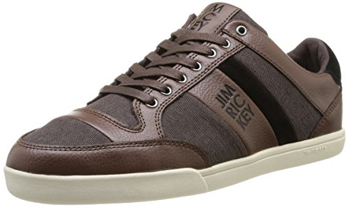 Jim Rickey  Carve Lo Tumbled Leather Fine Tweed,  Sneaker uomo Marrone Marron (Brown) 44