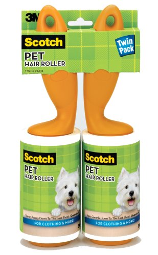 3M Scotch 839R-56TP Pet Hair Roller Twin Pack, 112-Sheets