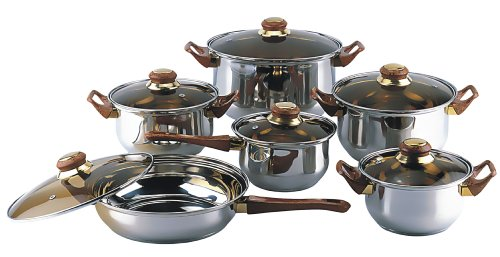 Gourmet Chef 12 Piece Stainless Steel Cookware Set