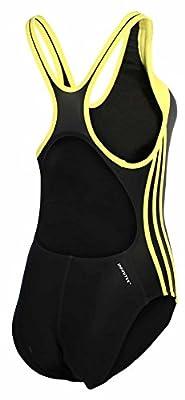Adidas Women's Performance Solid Spice Ex Back Swim-black/yellow
