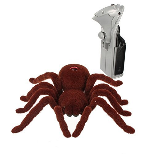 Aikoi Remote Control Spider Jokes Gags and Pranks Special Holiday Prank Toys & Ideal Funny Prank Gift Spider