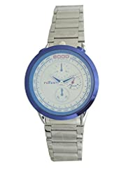 Forest Silver Singel Chronograph Dial Blue Shine Glass Men's Watch - Forest028 - B012NCLM2M