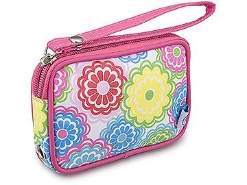 Wallet Wristlet Media Phone Camera Case In Line Flower (TC6141AD) by Room It-UP