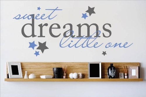 Decal - Vinyl Wall Sticker : Sweet Dreams Little One Quote Home Decor Sticker - Vinyl Wall Decal - 22 Colors Available Size: 12 Inches X 30 Inches front-463890