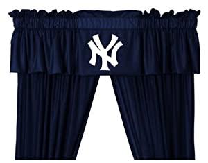 New York Yankees NY Window Treatments Valance and Drapes by Sports Coverage