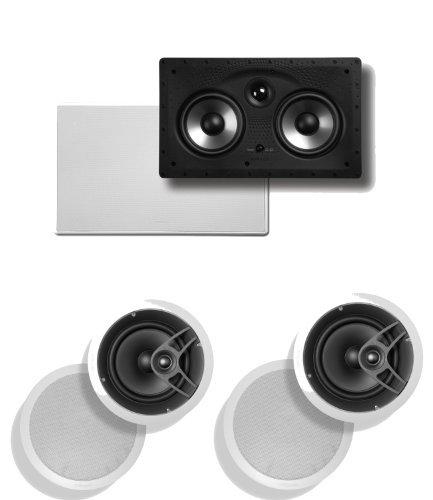 Polk Audio 255C-Rt In-Wall Center Channel Speaker Plus (1) Pair Of Polk Audio Mc80 In-Ceiling Speakers