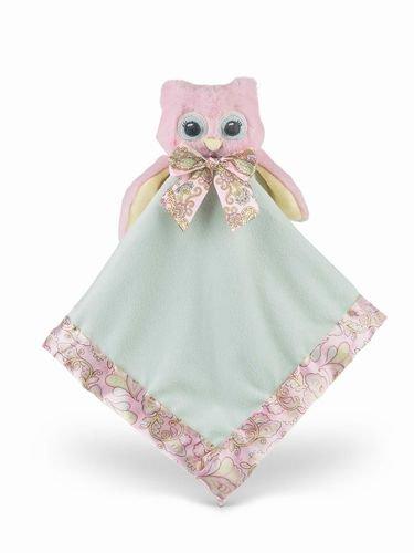 Lil' Hoots Snuggler Satin Blanket From Bearington Baby