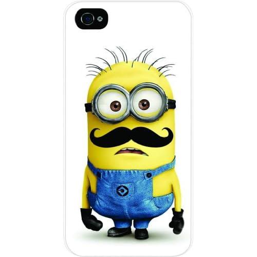 Amazon.com: Minion Mustache - Dispicable Me - White Hard Snap on Case