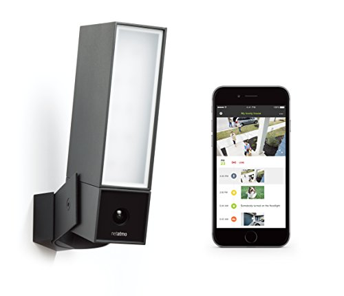 Netatmo Presence Outdoor Security Camera with Person Animal and Car Recognition - Black Aluminium