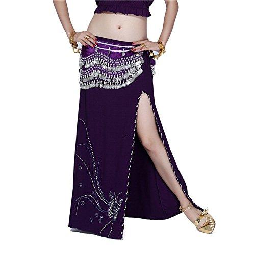FaithYoo -  Vestito  - Moda - Classico  - Donna Dark Purple Taglia unica