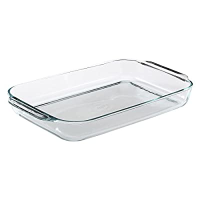 Pyrex Bakeware 4.8 Quart Oblong Baking Dish, Clear