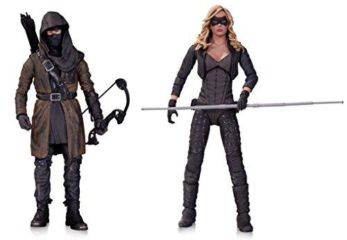 Super Hero Arrow (TV): The Dark Archer Action Figure Vs Arrow Canary Action Figure