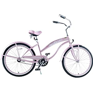 "Kids Bikes ""Pink"" Ladies Beach Cruiser 24"" Deluxe"