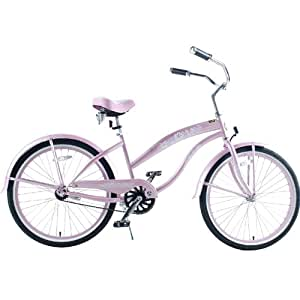 "Kids Bikes ""Pink"" Ladies Beach Cruiser 24"" Deluxe"