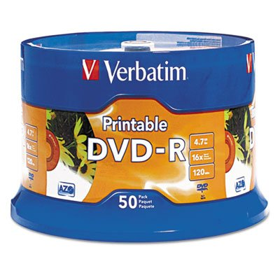 New DVD-R Disc; 4.7 GB; 16x; White; 50-Pk # 95137