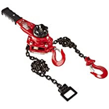 Coffing LSB-1500B-15 Steel LSB-B Model Ratchet Lever Hoist with Hook, 15' Lifting Height, 3/4 Ton Load Capacity