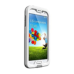 Lifeproof Fre Case for Samsung Galaxy S4 - Retail Packaging - White/Gray/Clear