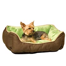 K&H Lounge Sleeper Self-warming Pet Bed 16-Inch by 20-Inch Mocha/Green