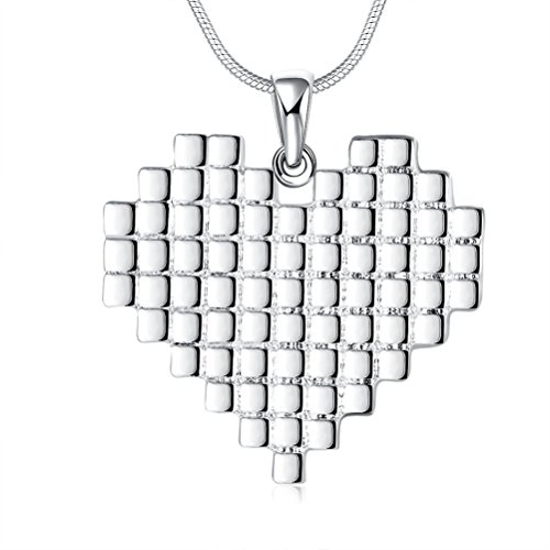 SunIfSnow Silver Plated Small Square Make uo Heart-Shape Pendant Necklaces (Auto Appraisal Tools compare prices)