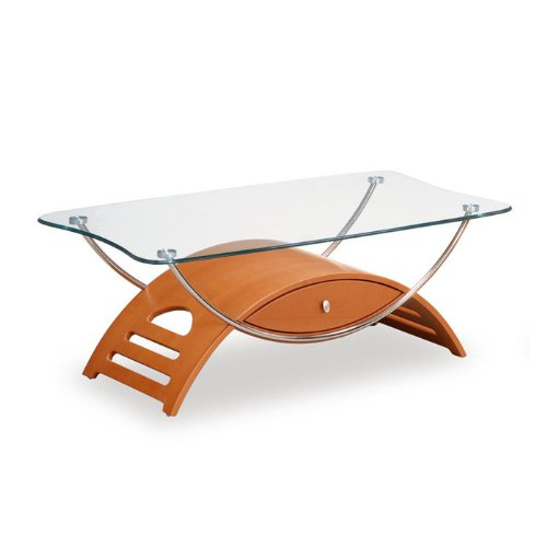 Global Furniture Chrome Occasional Coffee Table with Wenge Legs