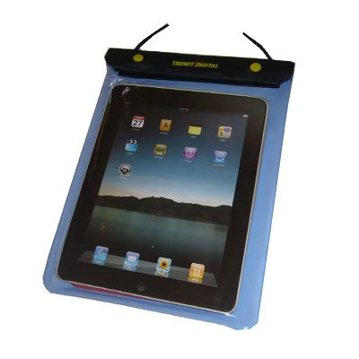 New Version TrendyDigital WaterGuard Waterproof Case, Waterproof Cover for Apple iPad, Blue Border