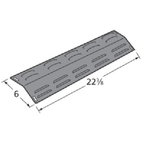 Music City Metals 94241 Porcelain Steel Heat Plate Replacement for Gas Grill Model BBQ Tek GPF2424AE