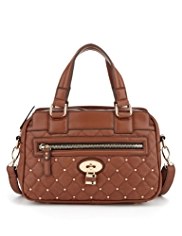 M&S Collection Studded Padlock Boxy Handbag