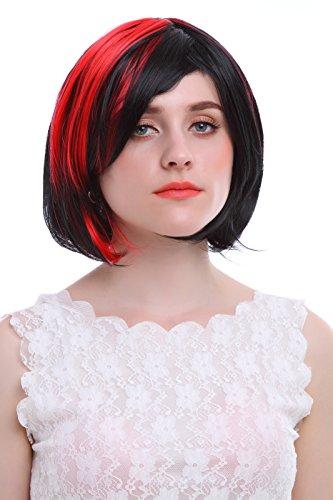 Nouqi® Womens Blend Color Short Straight Bob Hair Anime Wigs