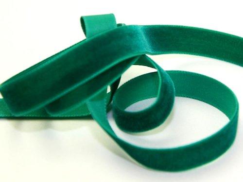 Berisfords Samtband, breit, 9 mm breit, meterweise, Smaragdgrün 9456