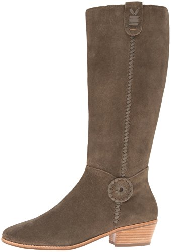 Jack Rogers Women's Sawyer Rain Boot, Olive Suede, 6 M US