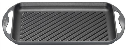 Le Creuset Cast Iron Rectangular Grill in Granite