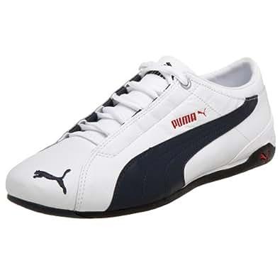 PUMA Men's Repli Cat II L US Sneaker,White/New Navy/Red,4 M