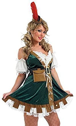 5 Piece Ladies Sexy Robin Hood Maid Marion Medieval Fancy