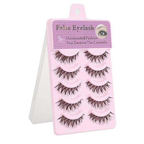 Imported-5-Pairs-Cotton-Stalk-Natural-Long-False-Eyelashes-Eye-Lashes-Makeup-A03
