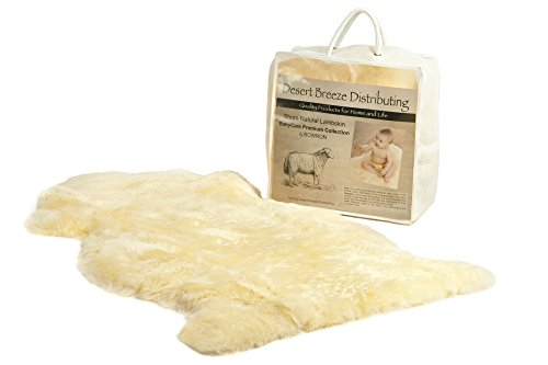 Desert Breeze Distributing New Zealand Lambskin for Baby, 100% Natural & Luxuriously Soft Shorn Wool, Soothing Comfort Year Round, Large