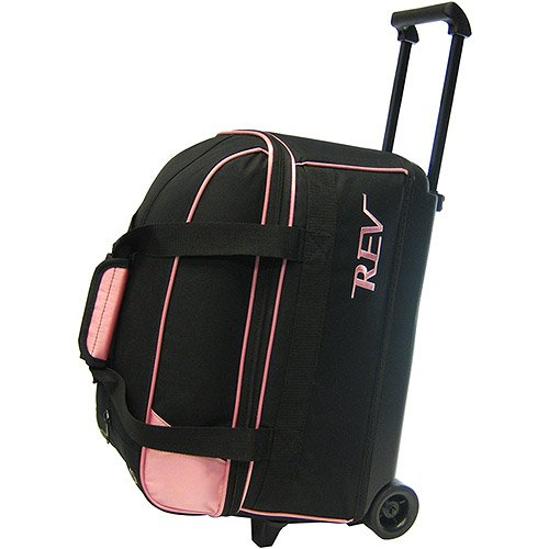 Rev Double Roller Pink/Black Bowling Bag