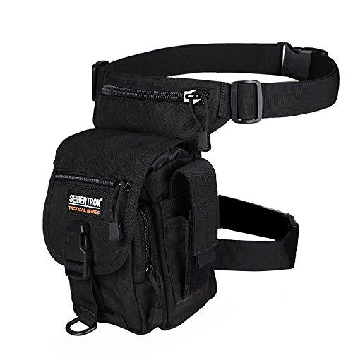 (サイボターン)Seibertronライディング レッグ バッグ Work 作業レッグポーチ WATERPROOF LEG BAG 大腿 ふともも用バッグ クール 軍事 タクティカル スポーツ メンズレディース兼用 黒 Black