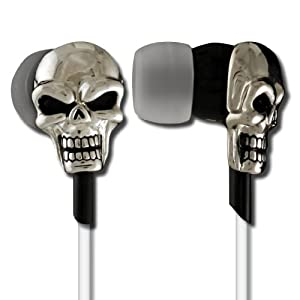 Ankit 'Stay True' Skull Earphones - Ergonomic, Noise-Isolating with G-Bass Technology