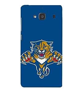 EPICCASE tiger case Mobile Back Case Cover For Mi Redmi 2 (Designer Case)