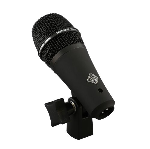 Telefunken M80-Shb | Low Profile Dynamic Cardioid Microphone For Snare Drum And Vocals (Black)