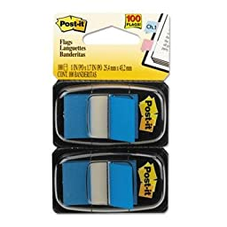 Post-It Flags - 4 Pack - Standard Tape Flags In Dispenser Blue 100 Flags/Dispenser \