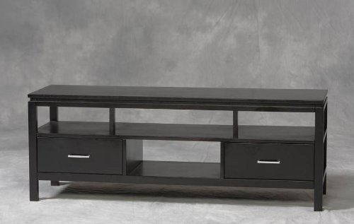 Cheap Linon Sutton TV Stand Console – Black Finish (B0076QK1HI)