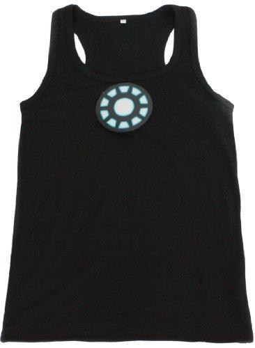 Tony Stark Light-Up Arc Reactor Led Iron Man Black Vest Prop Replica--Size M