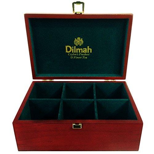 dilmah-luxury-wooden-presenter-tea-chest-gourmet-6-slot-total-of-60-tea-bag-holder-tea-not-included-
