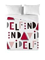 David Delfin Juego De Funda Nórdica Because (Rojo/Blanco)