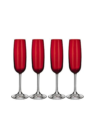 Waterford Marquis Vintage Set of 4 Red Champagne Flutes