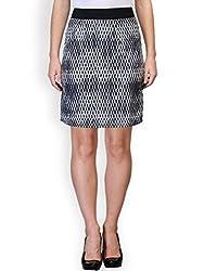 Purplicious Monochrome Crepe Knee Length Skirt