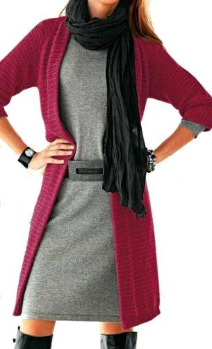 Heine Damen-Mantel Strickmantel Rot Größe 36