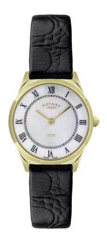 Rotary LS08002-41 Ladies Ultra Slim Gold Plated Watch